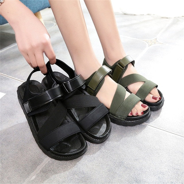 2020 Summer Gladiator Women Flat Fashion Female