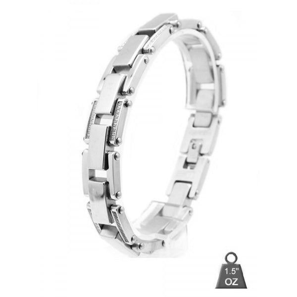 Stainless Steel bracelet with CZ 8006-1