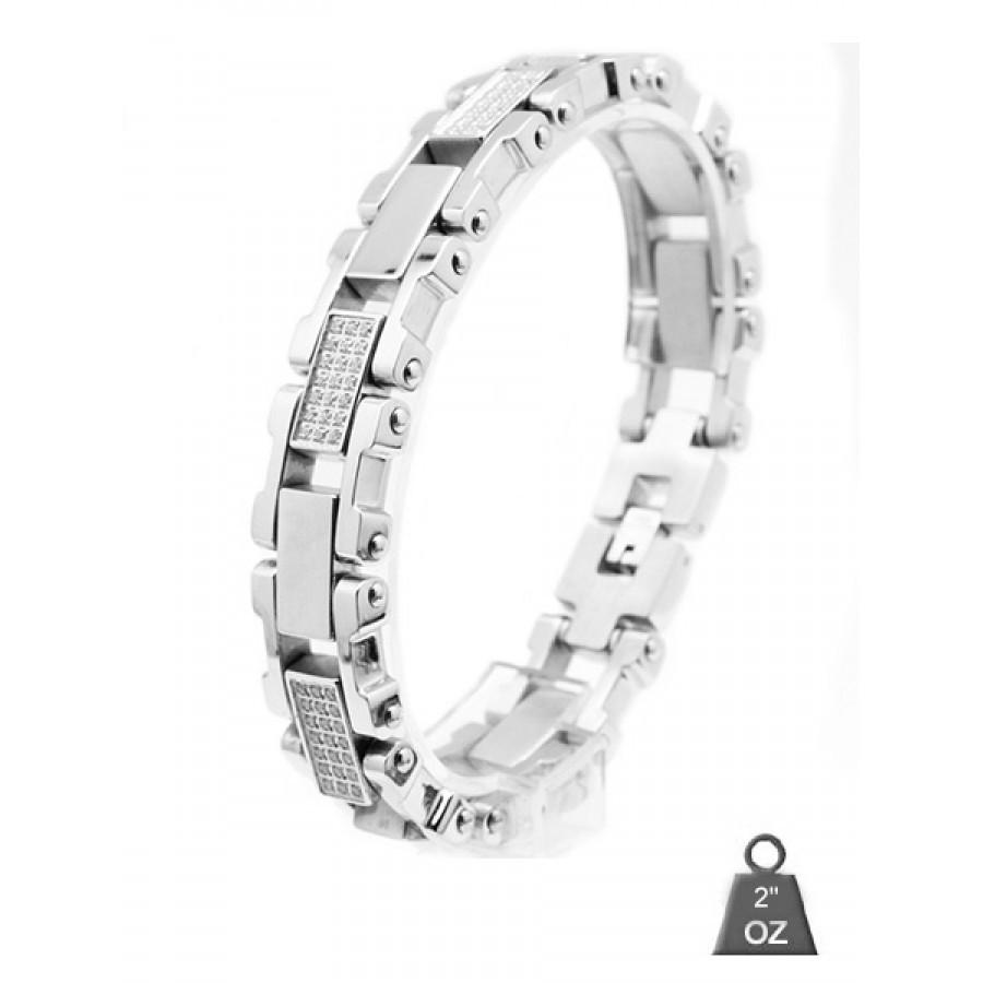 Stainless Steel bracelet with CZ 8008-1