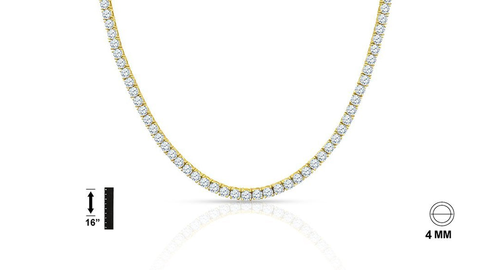 925 Sterling Silver Chain with CZ - 928552