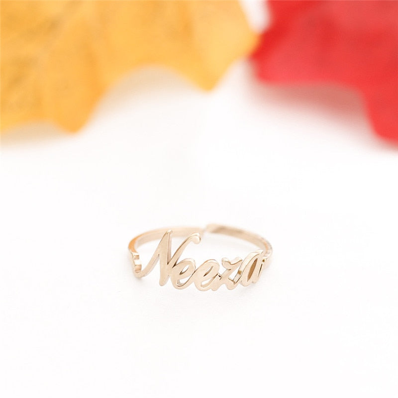 Personalized Ring - Custom Name Ring Stackable