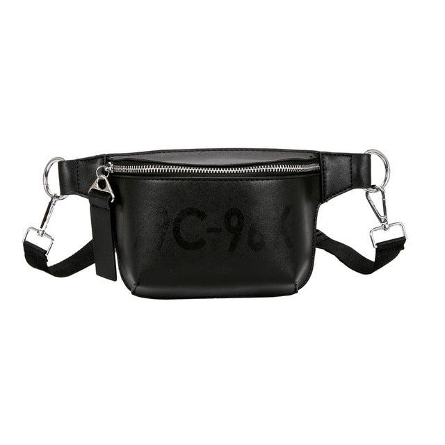 Fashion waist bag Women Pure Color Leather super