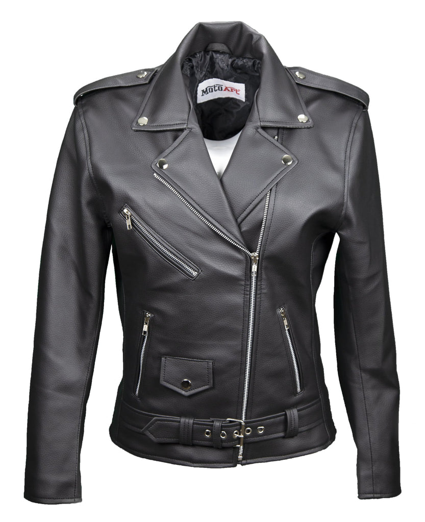 BewLady's Vegan Moto Style Faux Leather Jacket