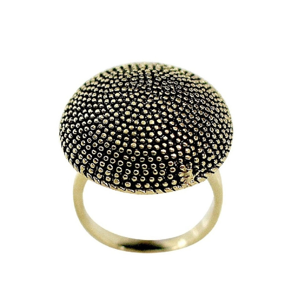 Circular Dome Top Gold Tone Fashion Ring