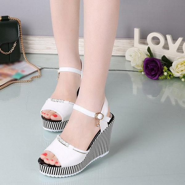 Women Shoes Casual High Heel Sandals Fashion