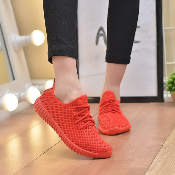 Women Sneakers Breathable Mesh Soft Platform Ladies Shoes Summer