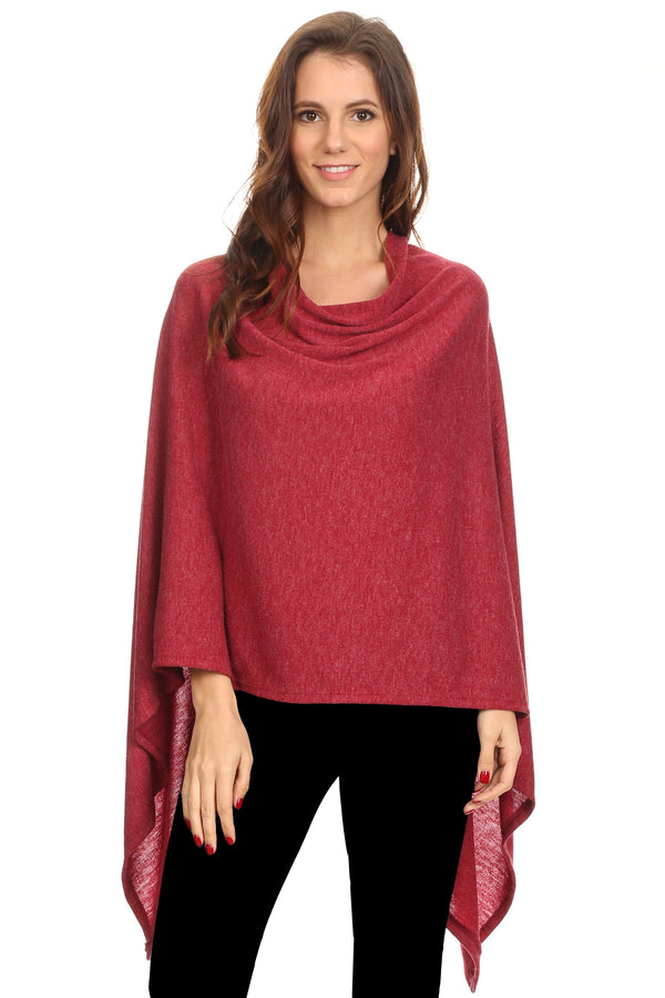 Sharon's Outlet Women's Solid Knit Short Wrap