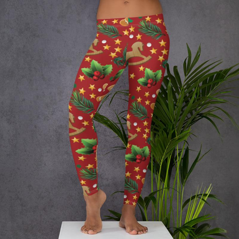 Bewlady Gingerbread Christmas leggings, Capris and Shorts