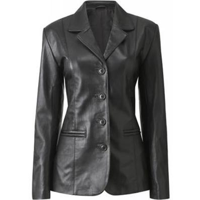 Haena Womens Leather Coat