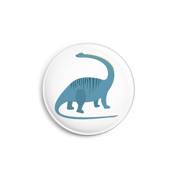 Button Dino blau, 32 mm