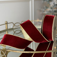 Load image into Gallery viewer, Lush Velvet Ribbon with Gold Trim