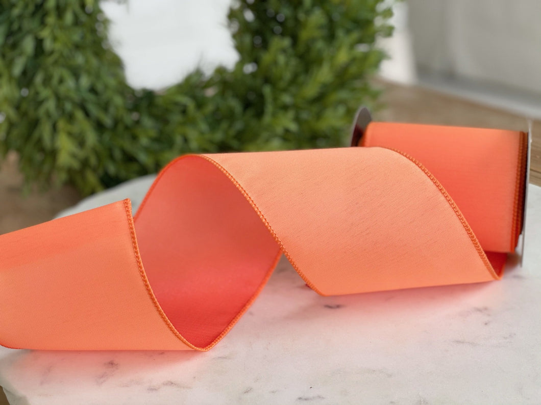 Orange Sateen Two Ton Ribbon- 4