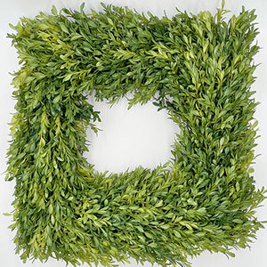 "18"" Square Tea Leaf Wreath"