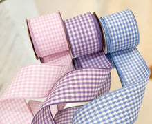 Load image into Gallery viewer, Little Boy Blue Gingham Ribbon
