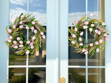 Load image into Gallery viewer, Pink Tulip and Floral Egg Wreath