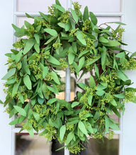 "Load image into Gallery viewer, 24"" Artificial ""Real Touch"" Long Leaf Eucalyptus Wreath"