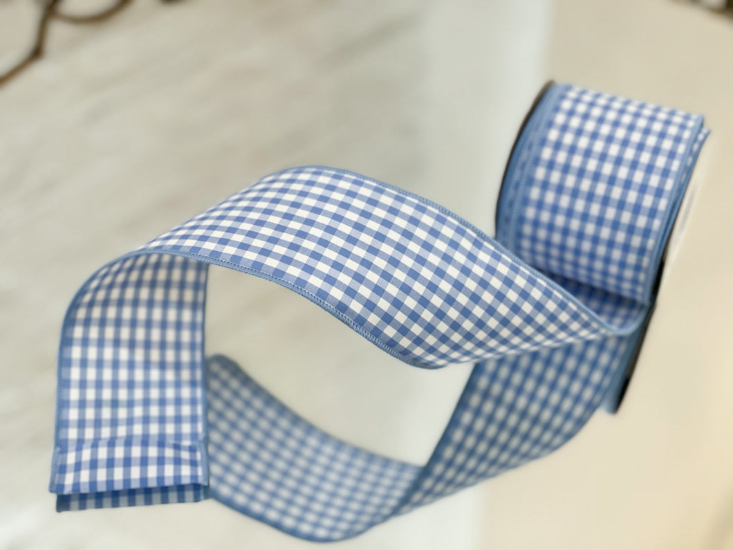 Little Boy Blue Gingham Ribbon