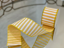 Load image into Gallery viewer, Banana Pudding Yellow and White Stripe Ribbon