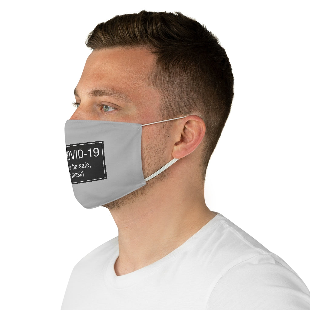 Be Safe Mask, Gray