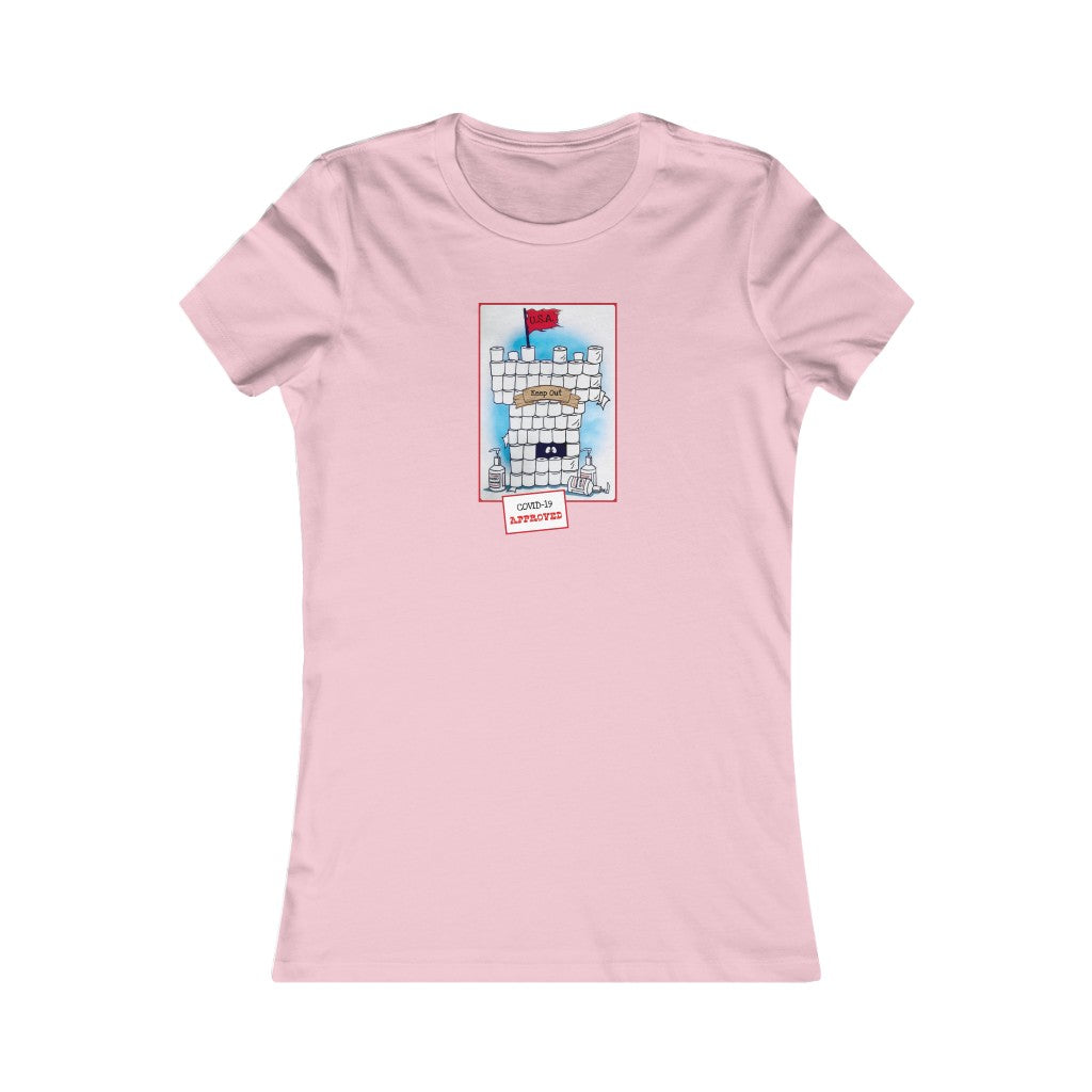 Covid-19 Approved Funny Women's Fitted Tee