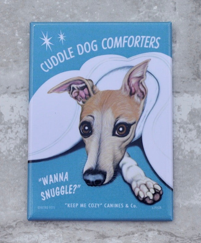 Cuddle Dog Whippet Magnet