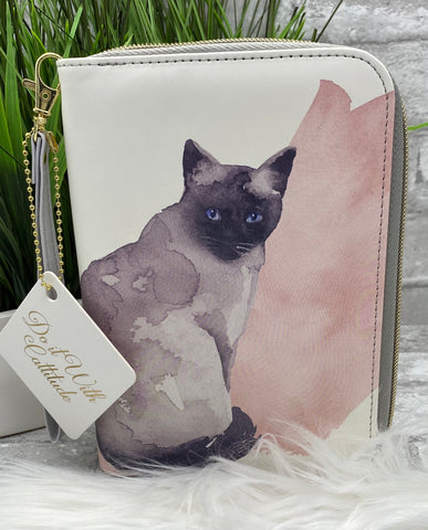 Painted Cats Zipper Clutch