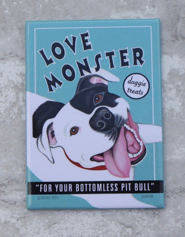 Love Monster Pit Bull Magnet