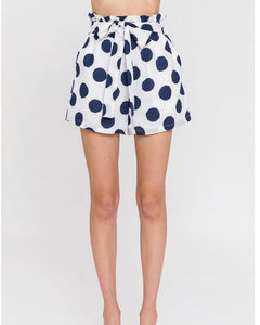 Dotted High Rise Shorts