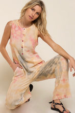 Load image into Gallery viewer, Tie Dye Knit Jumpsuit
