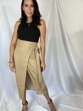 Load image into Gallery viewer, Linen Wrap Midi Skirt