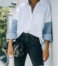 Load image into Gallery viewer, Boyfriend Cotton Denim Shirt