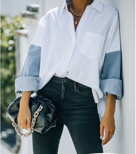 Boyfriend Cotton Denim Shirt
