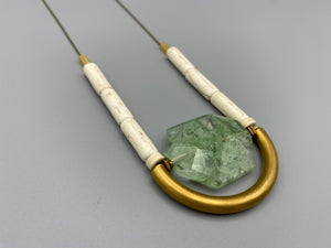 Yasmine Necklace Moss Agate