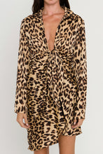 Load image into Gallery viewer, Knotted Leopard Shirt