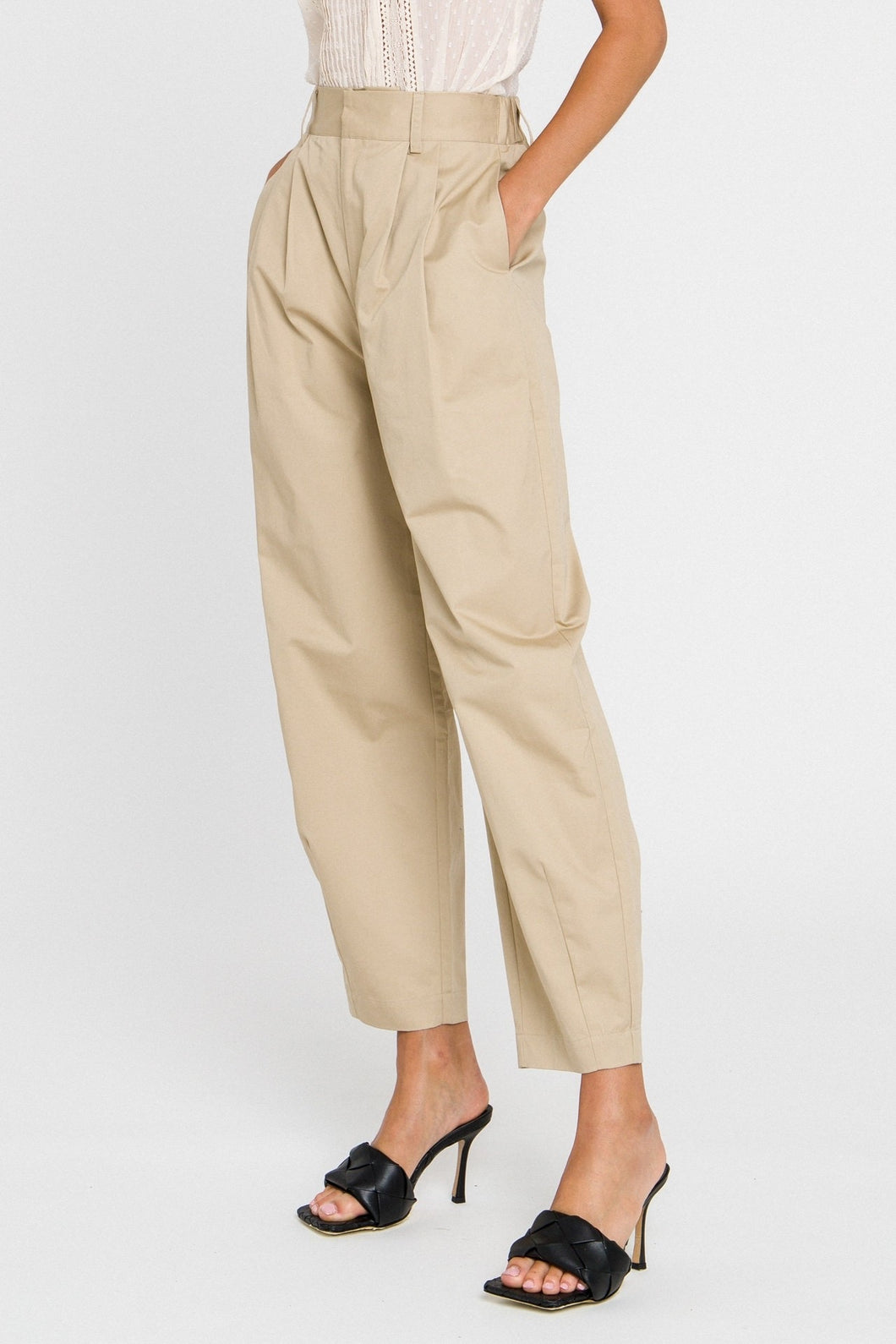 Pleated Slouchy Pants