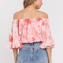 Load image into Gallery viewer, Tie Dye Crop-Top