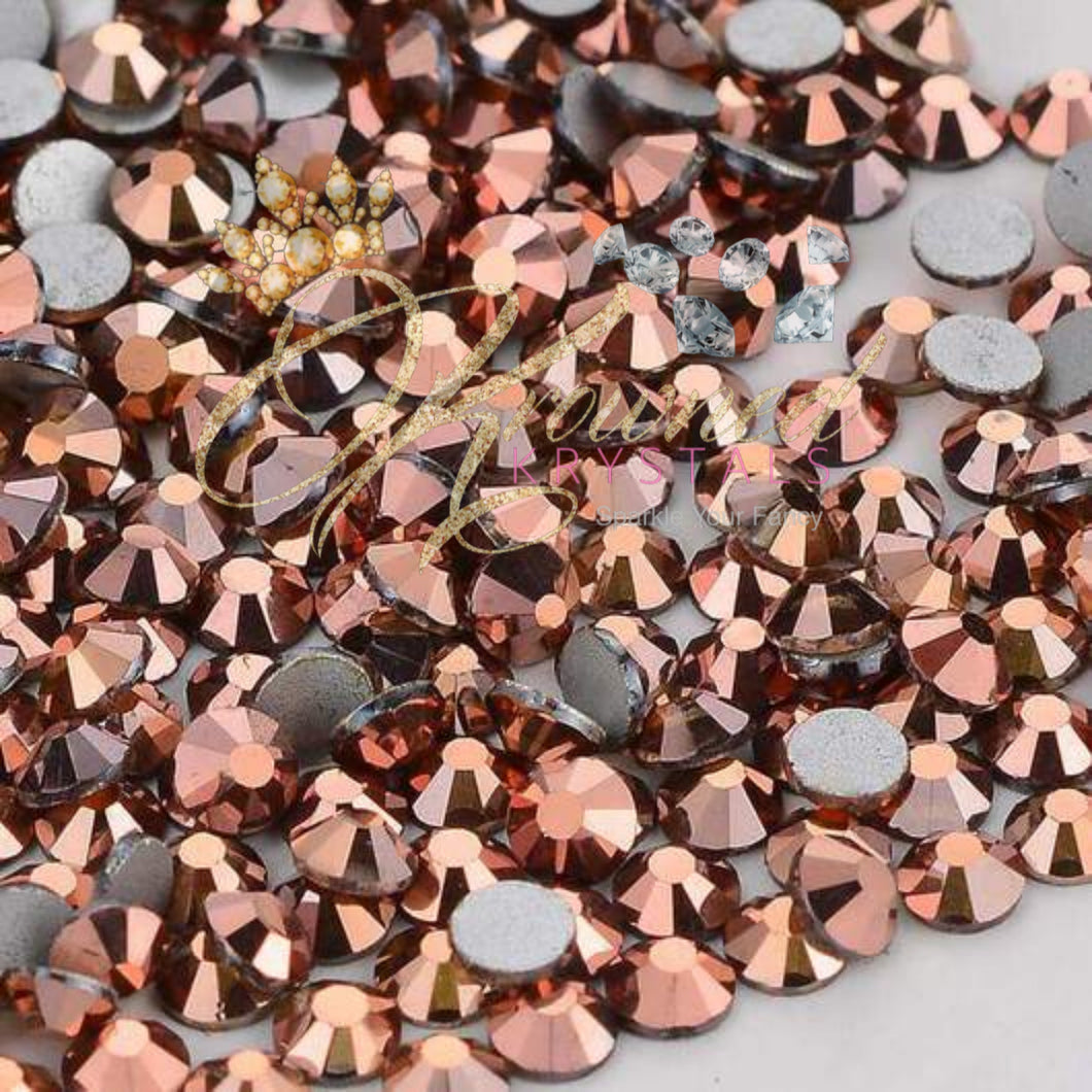 Rose Gold Glass Rhinestones