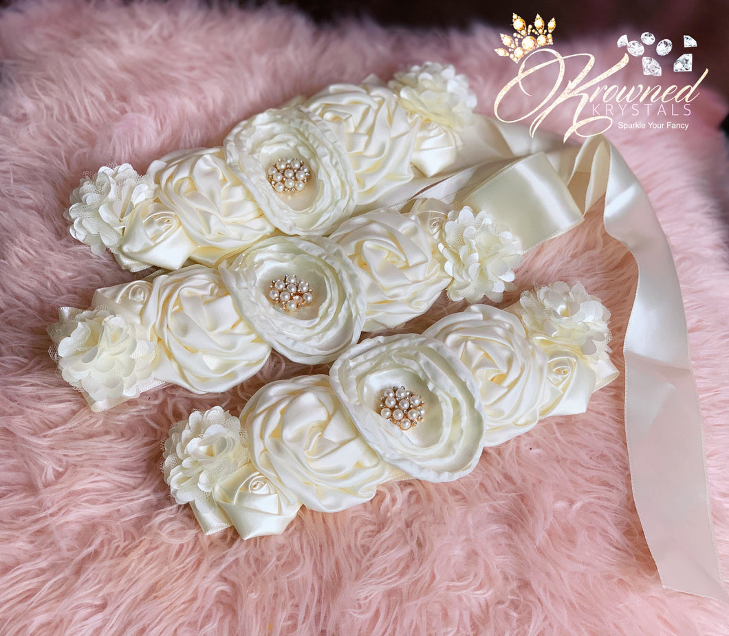 Satin Flower Belt