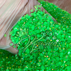 Lime Green AB Jelly Resin Rhinestones