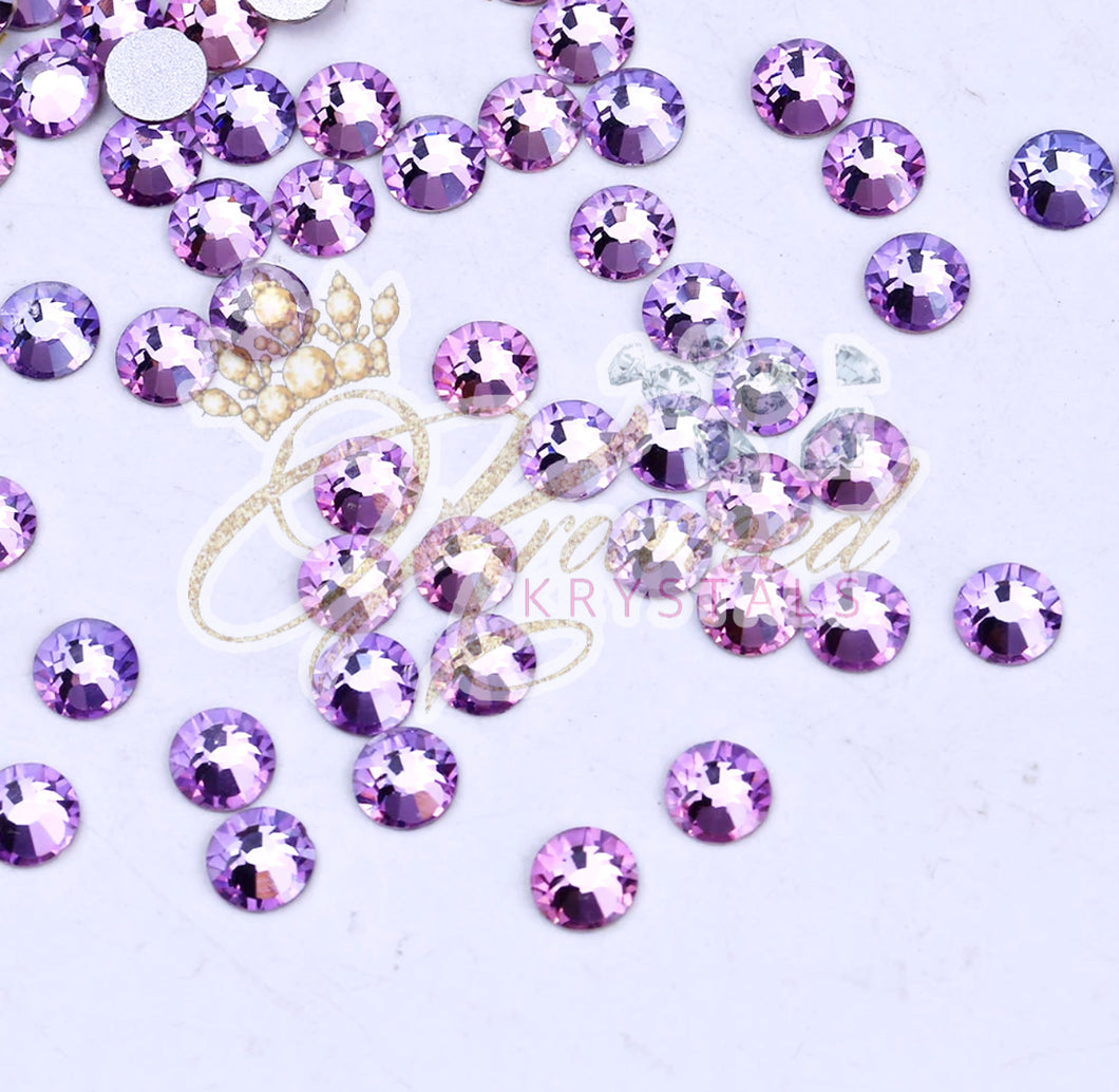 Purple Velvet Glass Rhinestones