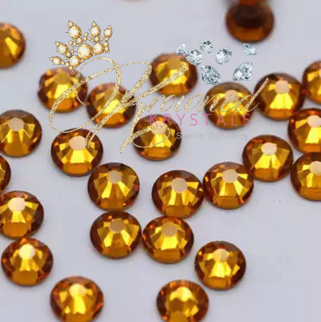 Topaz Gold Glass Rhinestones