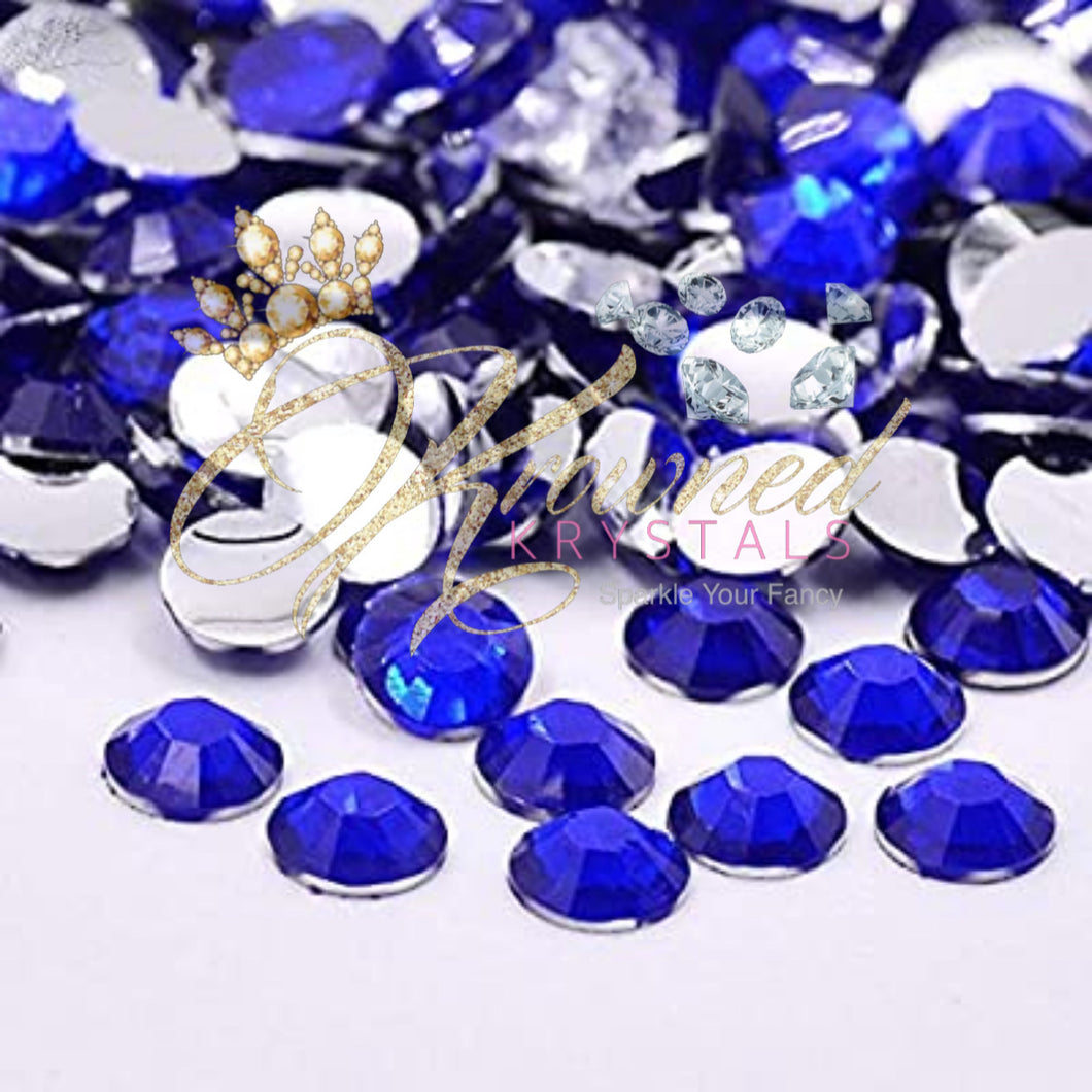 Cobalt Blue Resin Rhinestones