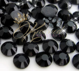 Black Glass Rhinestones