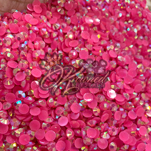 Pink Berry AB Jelly Resin Rhinestones