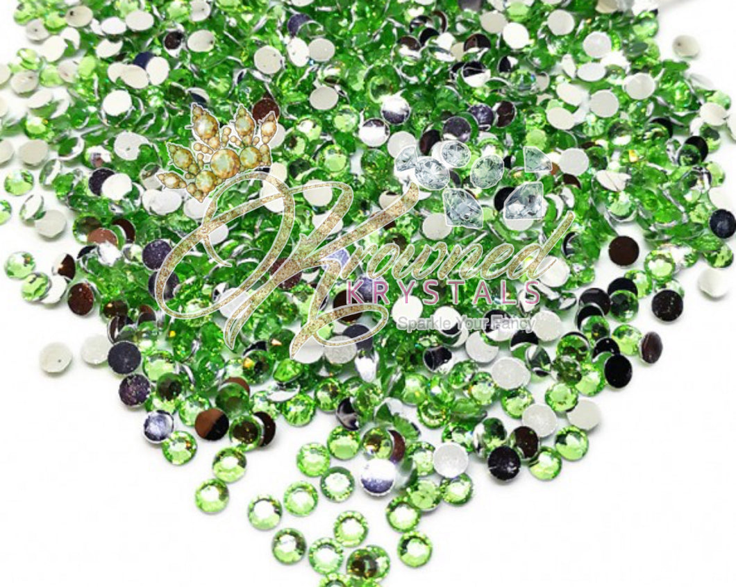 Light Green Resin Rhinestones