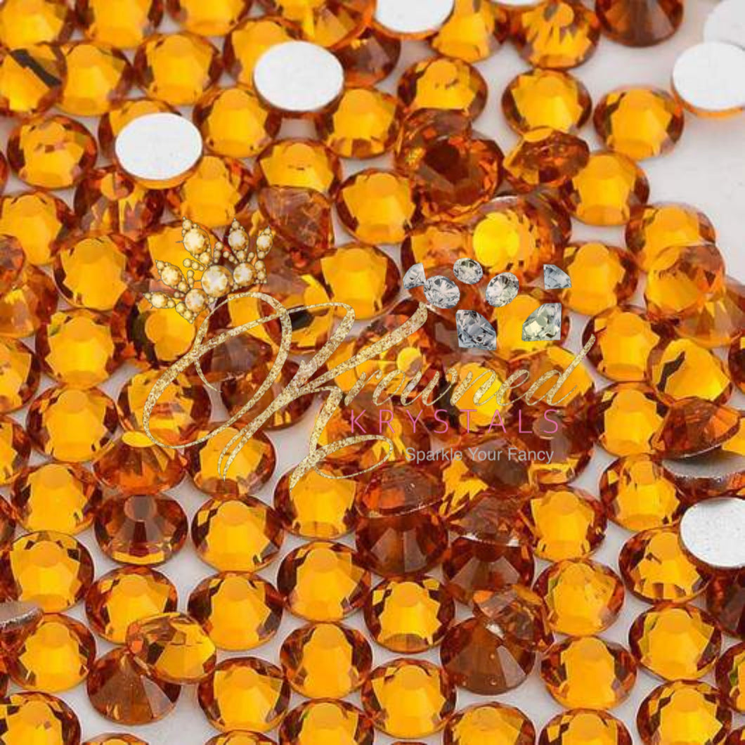 Topaz Gold Resin Rhinestones