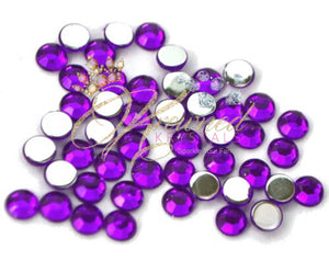 Tanzanite Purple Resin Rhinestones