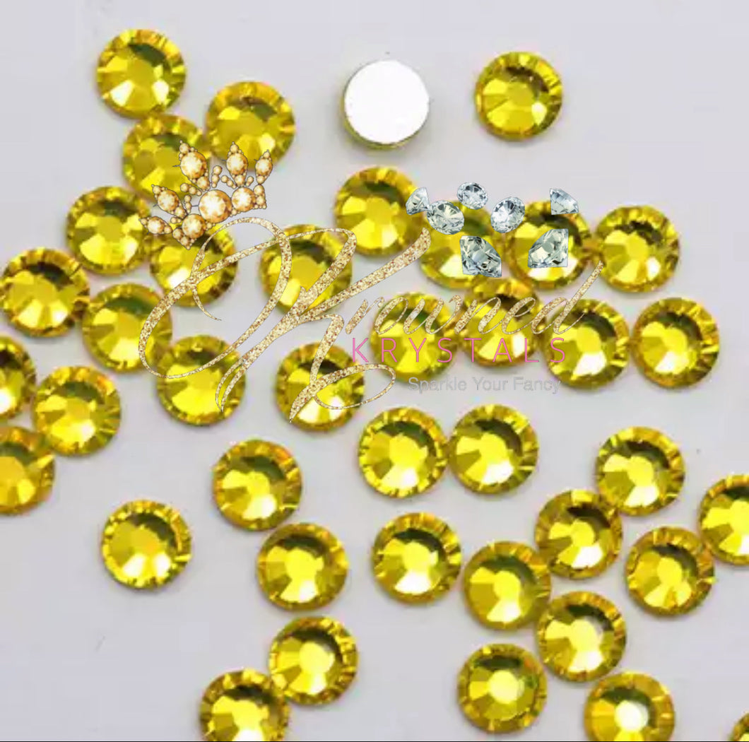 Citrine Yellow Glass Rhinestones