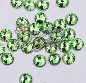 Peridot Green Glass Rhinestones
