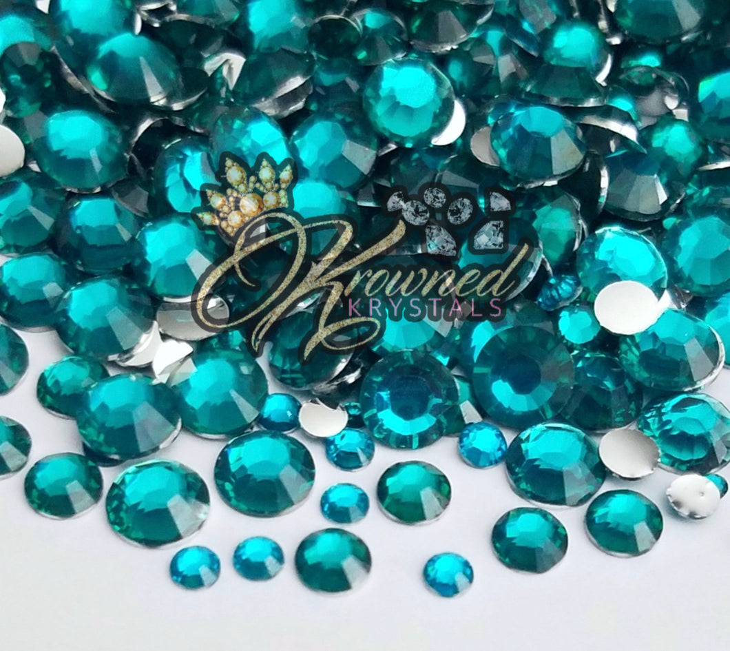 Blue Zircon Resin Rhinestones